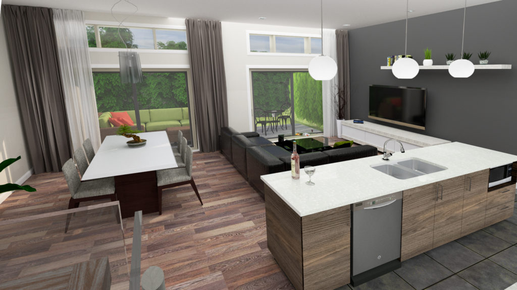 Cuisine aire ouverte cuisine et salon aire ouverte design - Salon cuisine aire ouverte ...